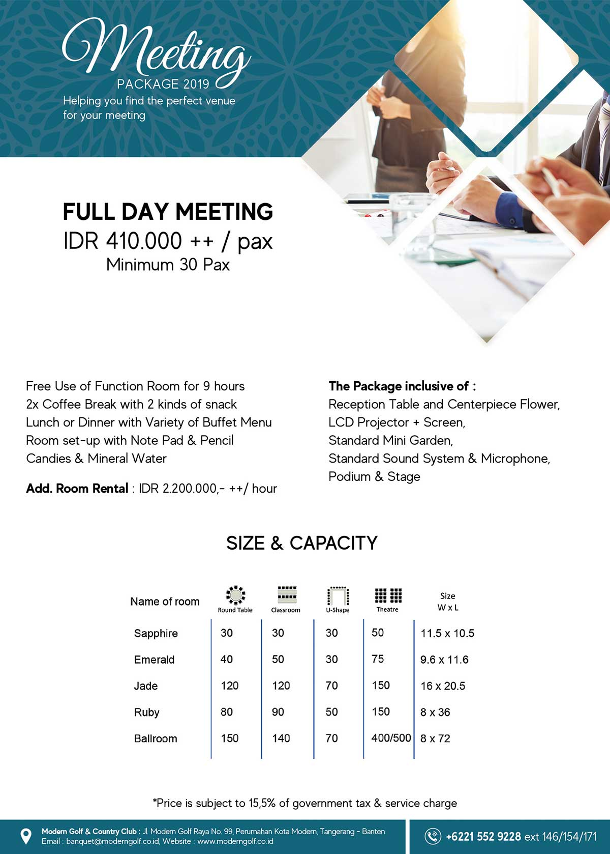 Meeting Fullday Package