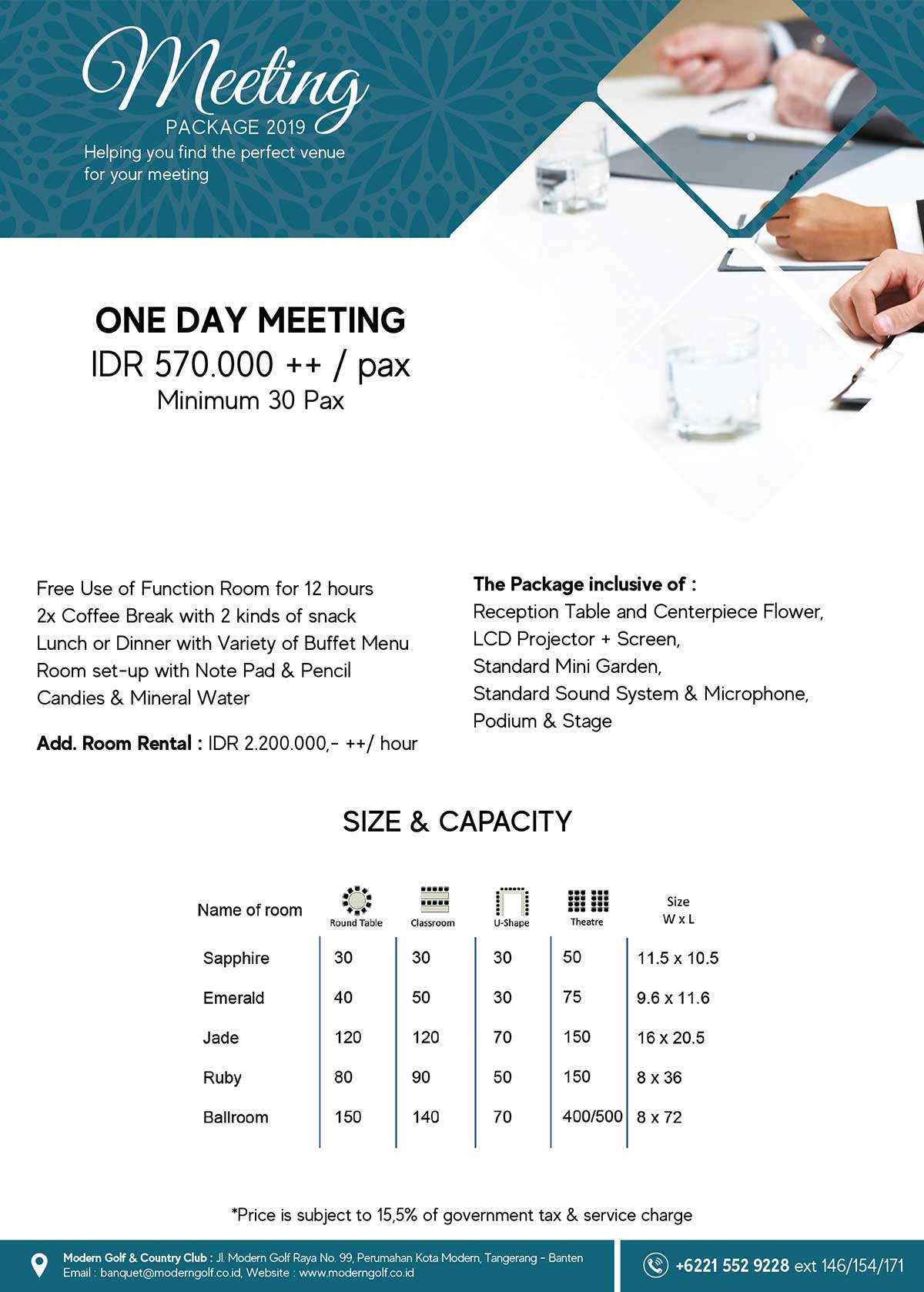 Meeting One Day package